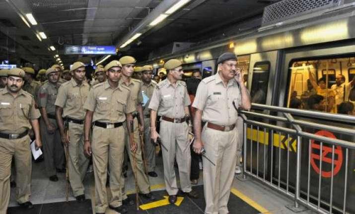seven metro stations in delhi closed