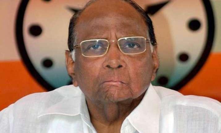 sharad pawar attacks congress on bank issue
