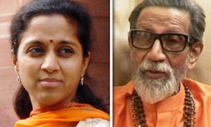 sharad pawar s daughter supriya meets bal thackeray