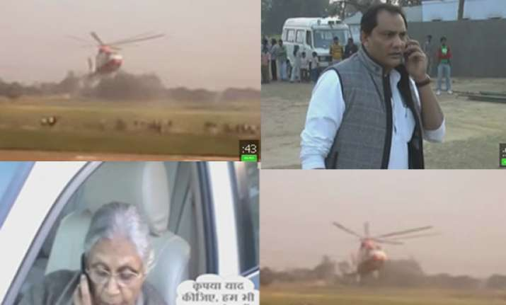 sheila dikshit s helicopter vanishes in up