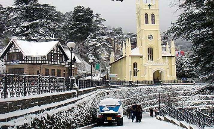 shimla snowfall at eight year record