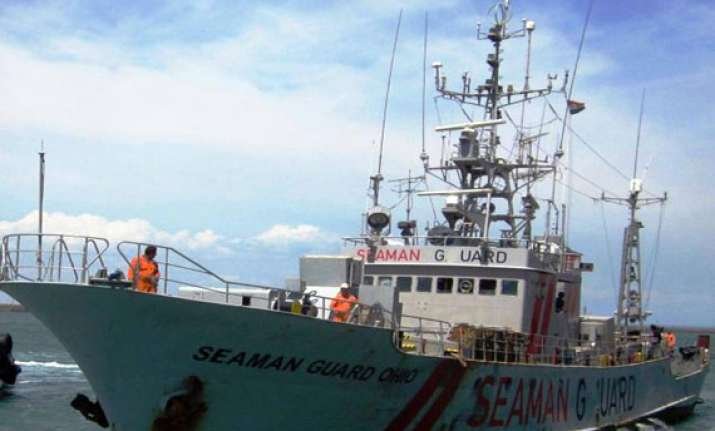 ship carrying arms and security guards detained coast guard