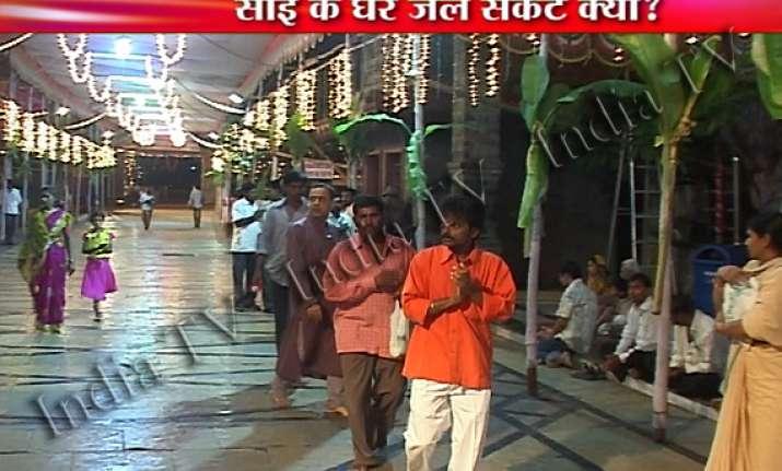 shirdi sai baba shrine faces acute water shortage
