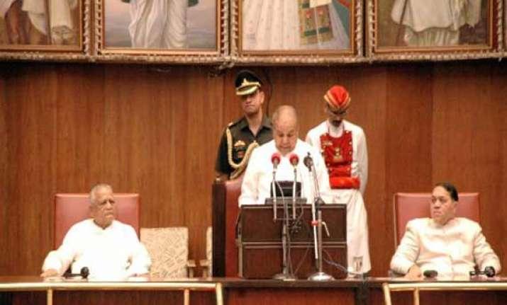 shiv sena bjp threaten to disrupt governor s budget speech