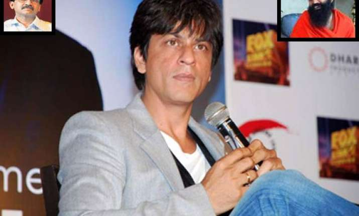 shiv sena slams srk for ramdev comment