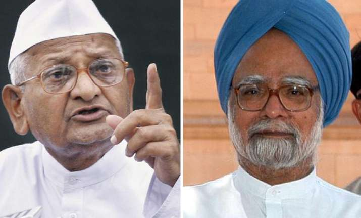 show some courage on lokpal bill anna hazare writes to pm