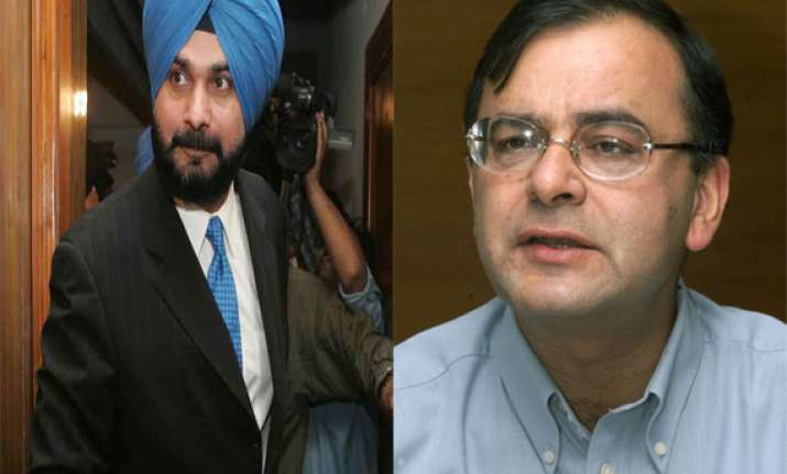sidhu says his absence in amritsar might have helped jaitley