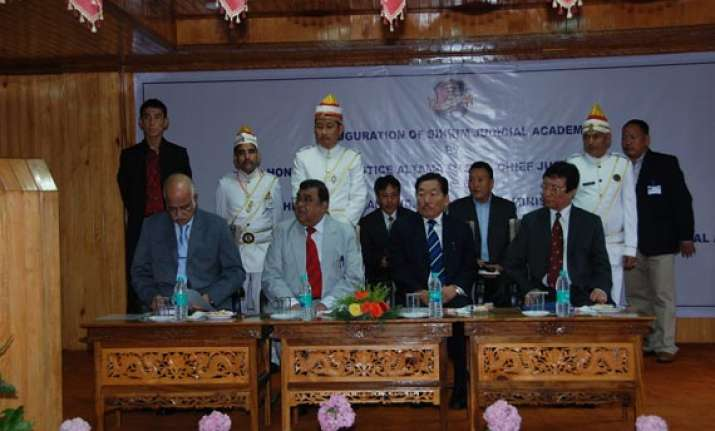 sikkim judicial academy inaugurated