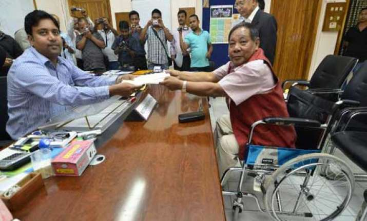 six including p.a. sangma file nominations in meghalaya