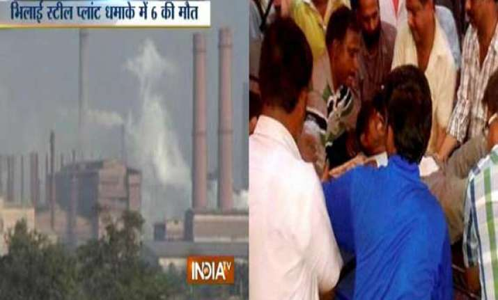 six dead over 40 injured after gas leak at bhilai steel