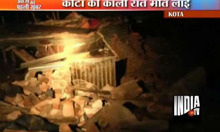 six labourers killed in kota wall collapse
