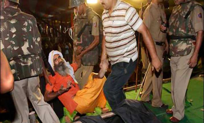 six policemen chargesheeted for lathicharge on ramdev