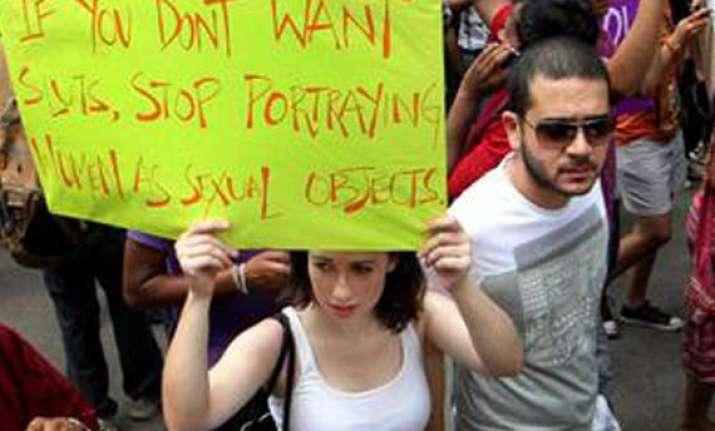 slutwalk staged in delhi to protest sexual violence
