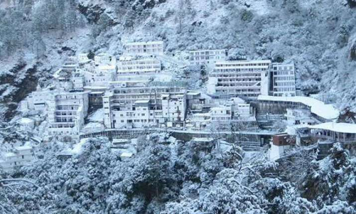 snowfall at mata vaishno devi shrine