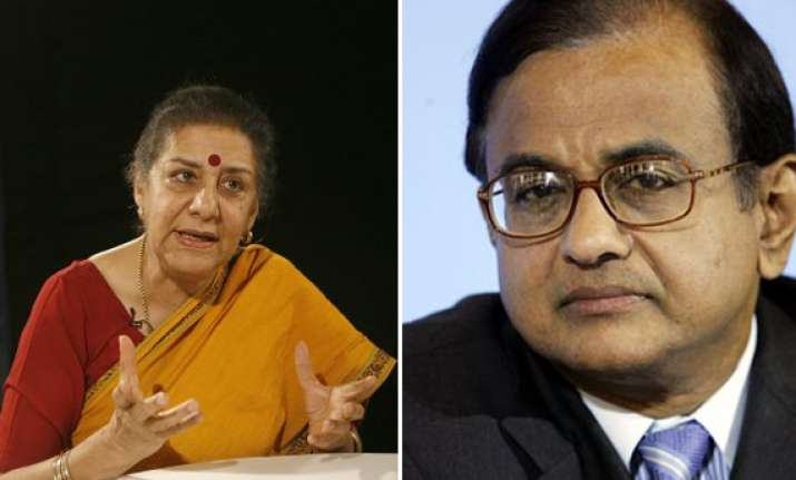 soni defends chidambaram in ramlila maidan crackdown