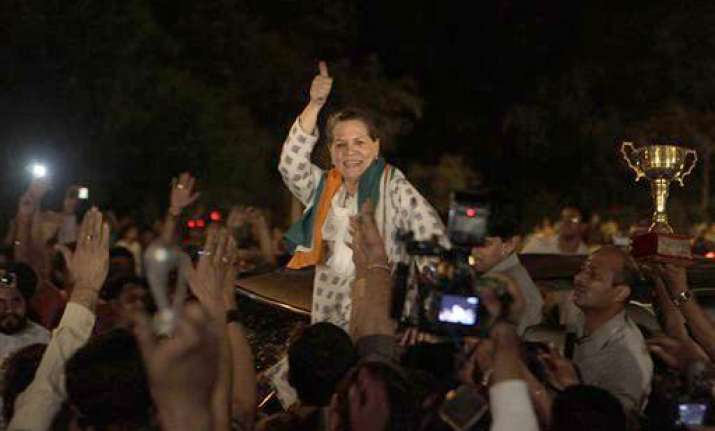 sonia big b srk come out on streets to celebrate