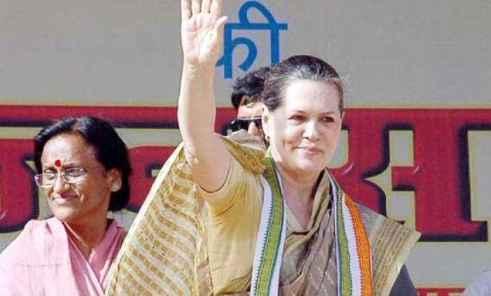 sonia gandhi promises clean govt in up
