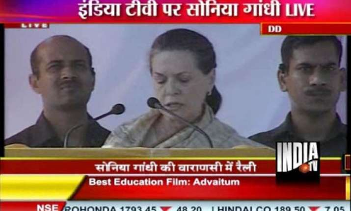 sonia lashes out at mayawati bjp