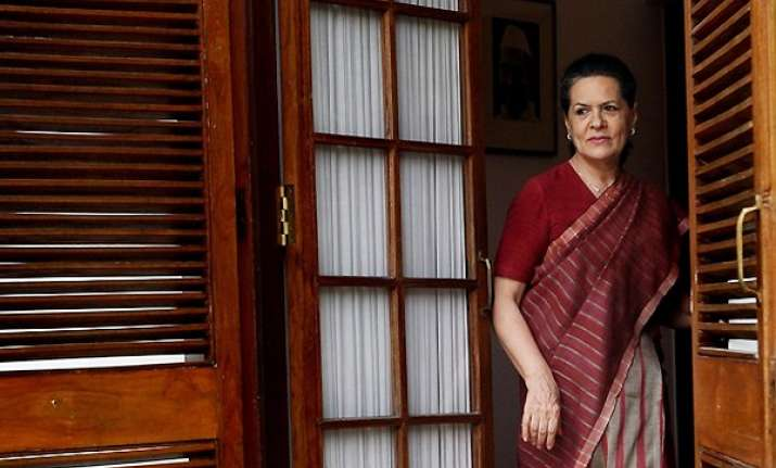 sonia s health is fine attending party work says congress