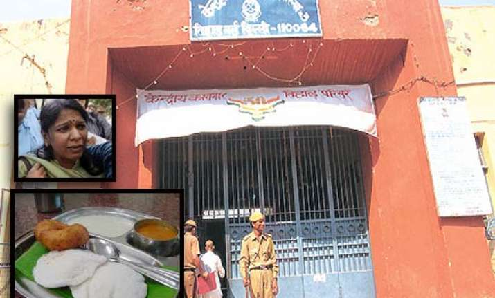 south indian food for tihar jail inmates now