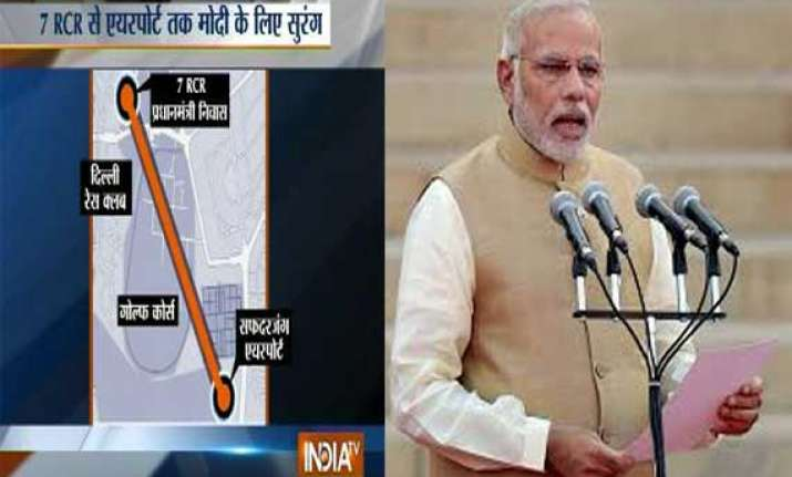 special tunnel being built from 7rcr to safdarjung airport