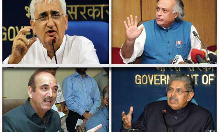 speculation about four central ministers offering to quit
