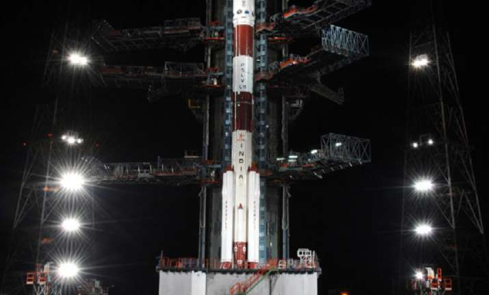stage set for pslv launch on monday