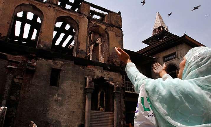 strike over shrine fire disrupts normal life in kashmir