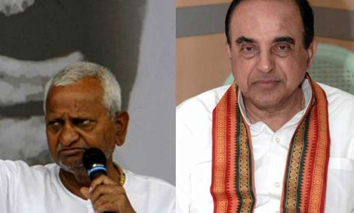 subramanian swamy asks team anna to get sanction condition
