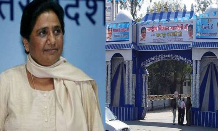 supersititious mayawati moves out of cm s official residence