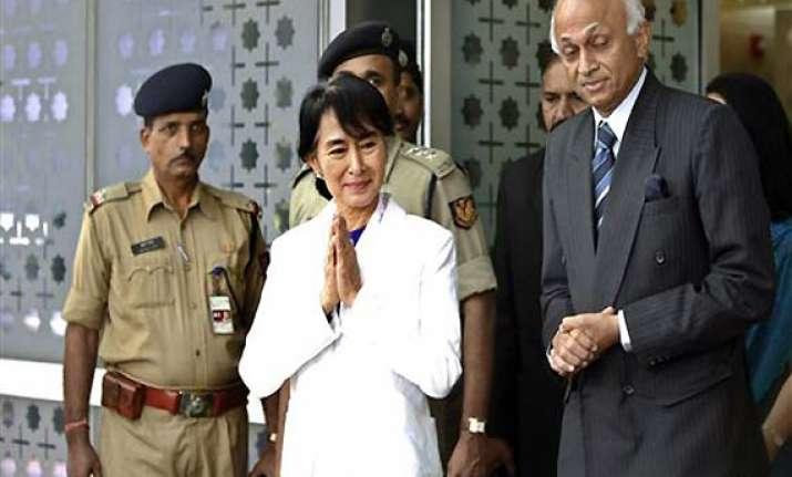 suu kyi arrives in india on nostalgic visit