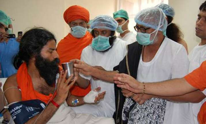 swami ramdev to be discharged on tuesday