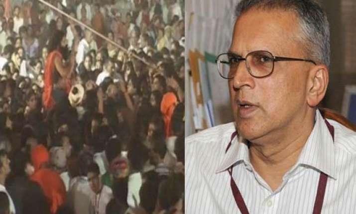 swami ramdev was hiding in a saree says home secy