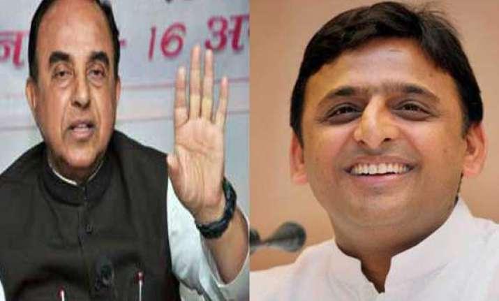 swamy meets akhilesh over allegations against chidambaram