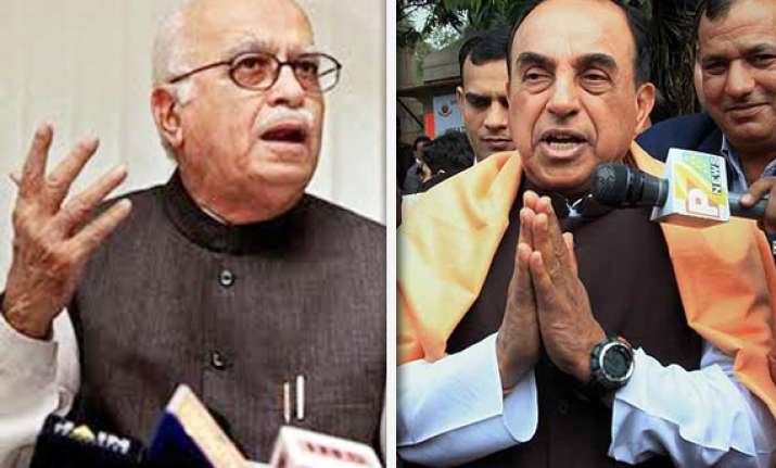 swamy is man of the series says advani
