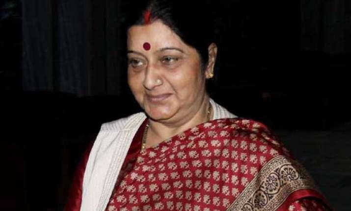 swaraj returns home after vietnam visit
