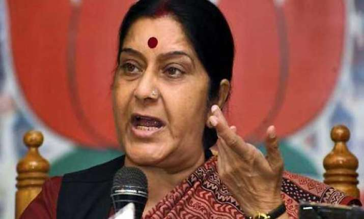 swaraj questions govt s majority claim