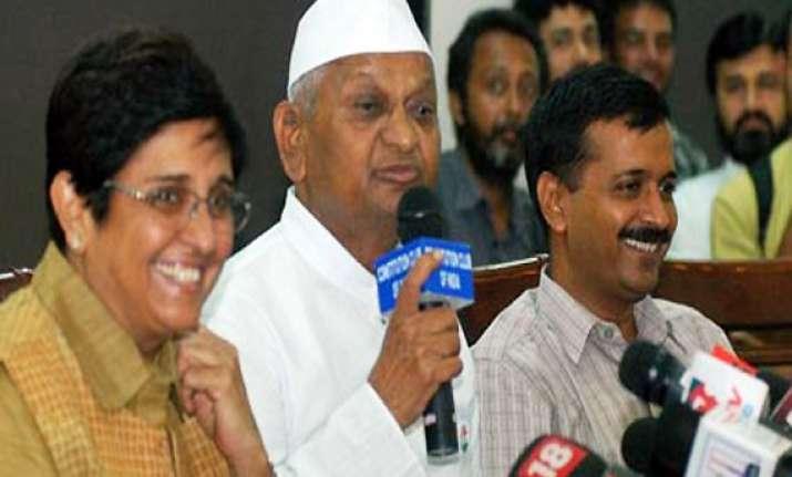 team anna meets ec presses for electoral reforms