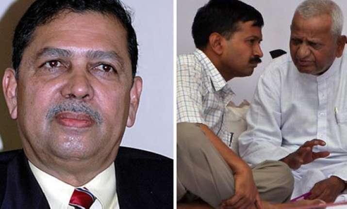 team anna targeting congress not correct says santosh hegde