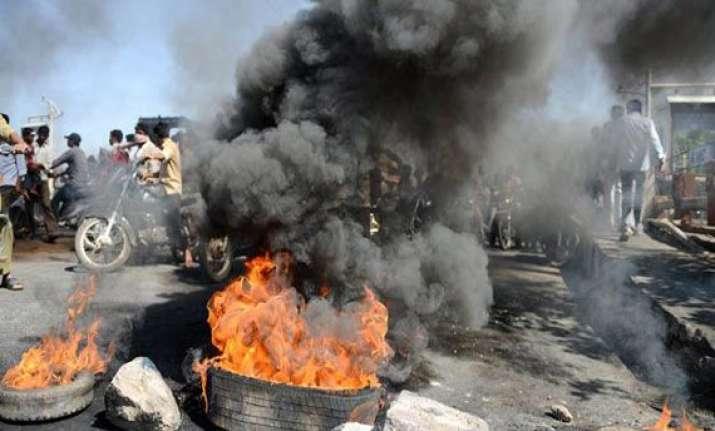 telangana curfew in vizianagaram as violence spreads jagan