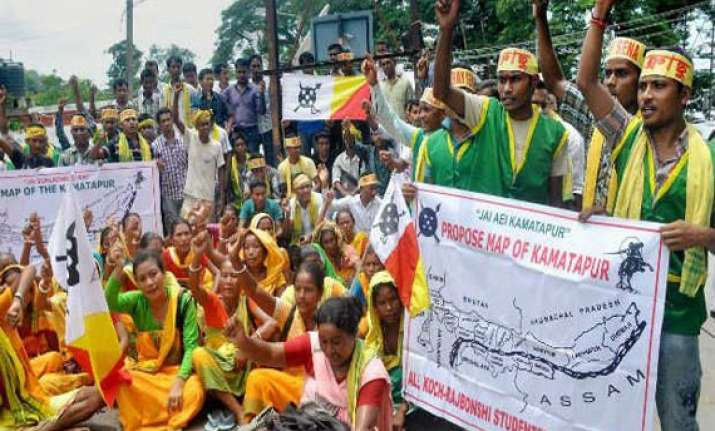 telangana effect bodo karbi koch protesters to enforce 1