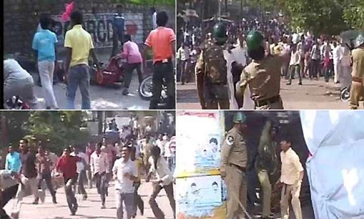 telangana fallout violence continues in vizianagaram