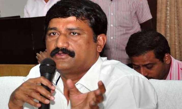 telangana fallout ap cong minister quits over bifurcation