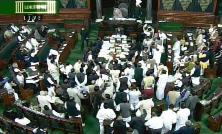 telangana issue rocks ls for third day