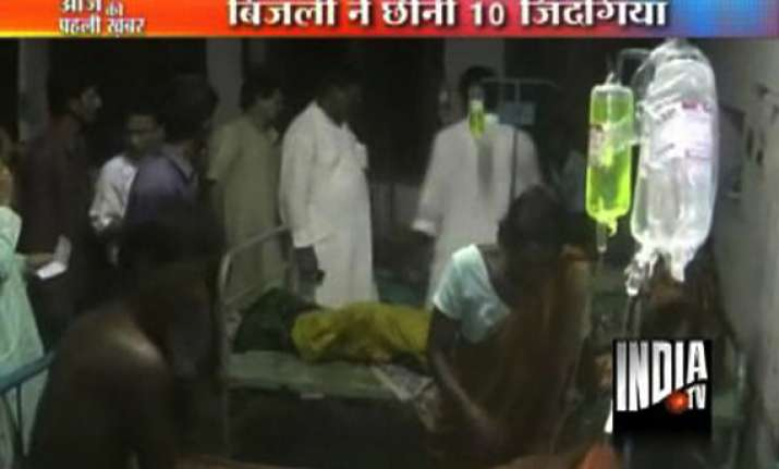 ten killed by lightning in bengal