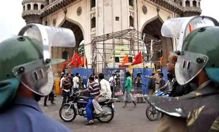 tension in old hyderabad over temple mim legislators held