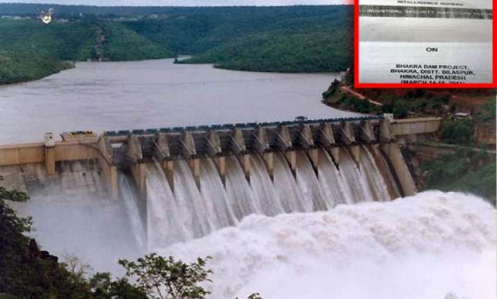 terror threat to bhakhra dam says ib