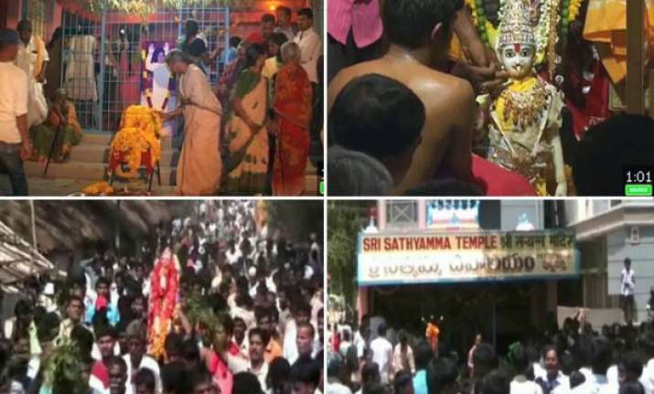 thousands congregate to pray for sathya sai baba s recovery