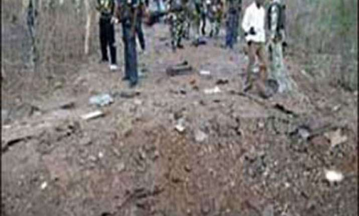 three cops injured in chhattisgarh landmine blast