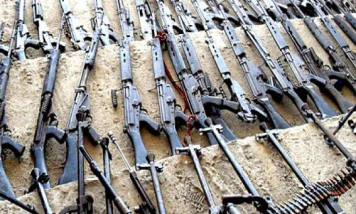 three held for illegal possession of arms